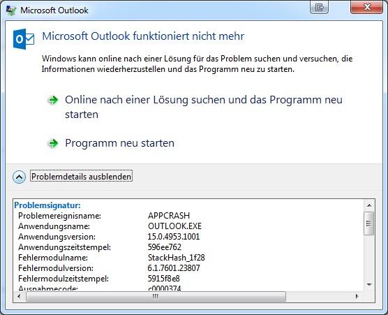 Outlook crash when printing | Kopano Community Forum